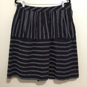 MAEVE nubby stripes navy striped skirt AK16